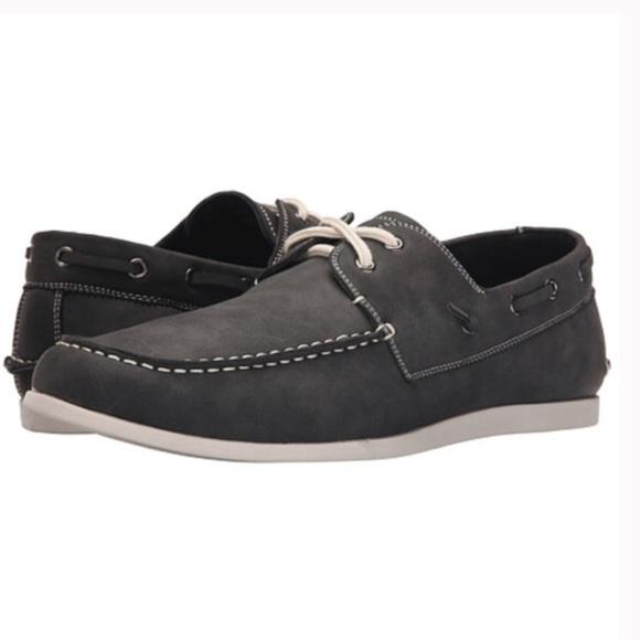 ea6659ea1e2 Steve Madden® Mens Gray Leather Boat Shoes 11.5